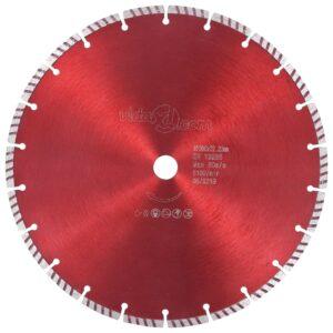 Disco de corte de diamante com aço turbo 300 mm - PORTES GRÁTIS
