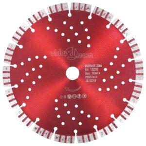 Disco de corte de diamante com turbo e orifícios aço 230 mm - PORTES GRÁTIS