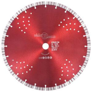 Disco de corte de diamante com turbo e orifícios aço 350 mm - PORTES GRÁTIS