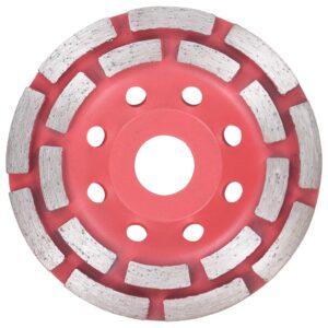 Disco de diamante com segmento duplo 115 mm para rebarbadora - PORTES GRÁTIS