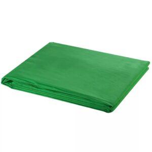Fundo fotográfico em algodão verde 600x300 cm chroma key - PORTES GRÁTIS