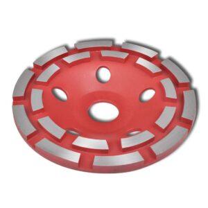 Roda de esmeril com linha dupla 125mm - PORTES GRÁTIS