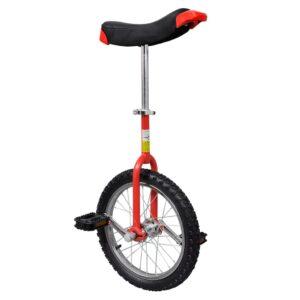 Monociclo ajustável vermelho 40,7 cm (16