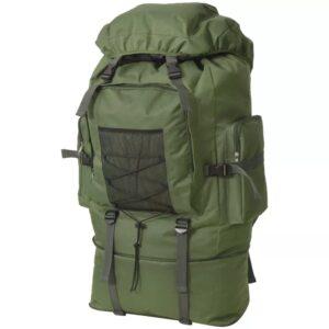 Mochila estilo exército XXL 100 L verde - PORTES GRÁTIS