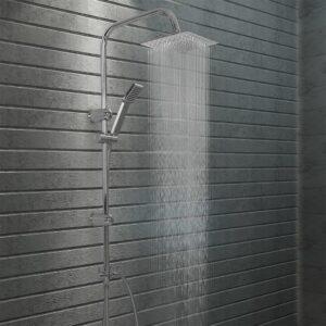 Conjunto de duche com chuveiro fixo e de mão aço inoxidável - PORTES GRÁTIS