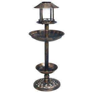 Bebedouro para pássaros decorativo luzes LED solares plástico - PORTES GRÁTIS
