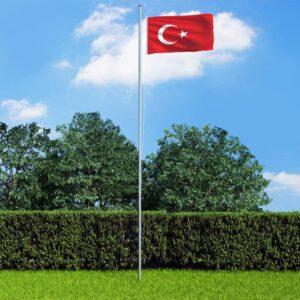 Bandeira da Turquia 90x150 cm - PORTES GRÁTIS
