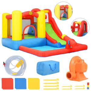 Happy Hop Insuflável com escorrega e piscina 350x280x190 cm PVC - PORTES GRÁTIS