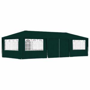 Tenda festas profissional c/ paredes laterais 4x9m 90g/m² verde - PORTES GRÁTIS
