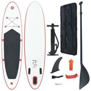 Prancha de paddle SUP insuflável vermelho e branco - PORTES GRÁTIS