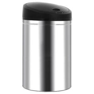Caixote do lixo com sensor automático 52 L aço inoxidável - PORTES GRÁTIS