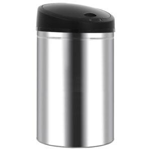 Caixote do lixo com sensor automático 62 L aço inoxidável - PORTES GRÁTIS