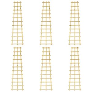 Treliças de jardim 6 pcs 50x170 cm pinho impregnado - PORTES GRÁTIS