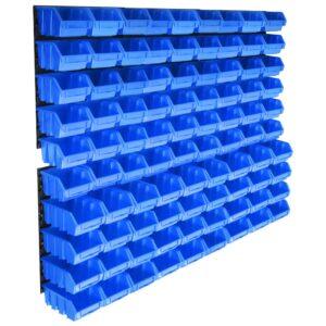 96 pcs Kit caixas arrumação com painéis de parede azul - PORTES GRÁTIS