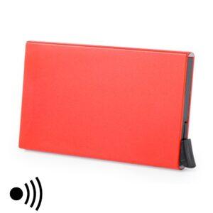 Porta-Cartões RFID Vermelho com Mecanismo Automático 146173