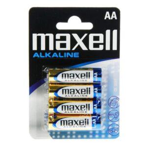 Pilhas Alcalinas Maxell 1.5V AA PK4 AA 1,5 V