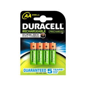 Pilhas Recarregáveis DURACELL AA NiMh 2400 mAh (4 pcs)