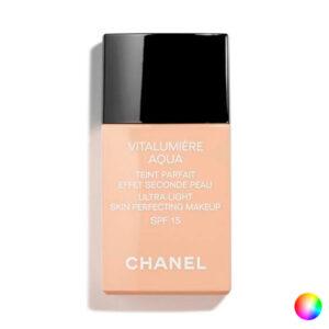 Base de Maquilhagem Fluida Vitalumière Aqua Chanel 50 - beige senne 30 ml