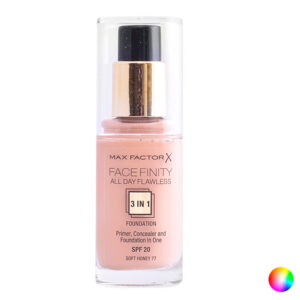 Base de Maquilhagem Fluida Face Finity 3 In 1 Max Factor 55 - beige