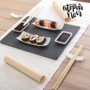 Set de Sushi com Bandeja de Ardósia (11 peças)