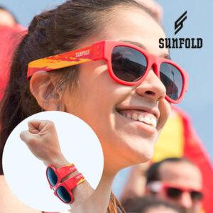 Óculos de Sol Enroláveis Sunfold Spain Red