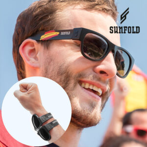 Óculos de Sol Enroláveis Sunfold Spain Black