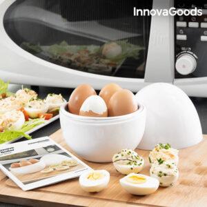 Cozedor de Ovos para o Micro-Ondas com Livro de Receitas Boilegg InnovaGoods
