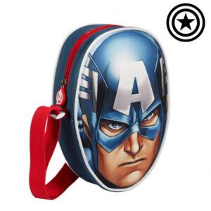 Mochila Pequena 3D Capitão América (Avengers)