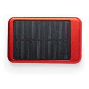 Power Bank Solar 4000 mAh Vermelho