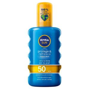 Spray Protetor Solar Protege & Refresca Nivea Spf 50 (200 ml)