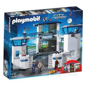 Playset City Action Police Station With Prison Playmobil 6919