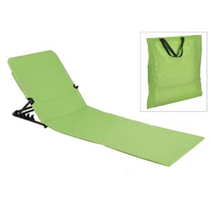HI Esteira cadeira de praia dobrável em PVC verde - PORTES GRÁTIS