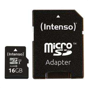Cartão de Memória Micro SD com Adaptador INTENSO 34234 UHS-I Premium Preto 16 GB