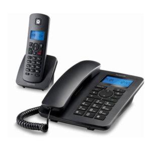 Telefone Fixo Motorola C4201 Combo DECT (2 pcs) Preto