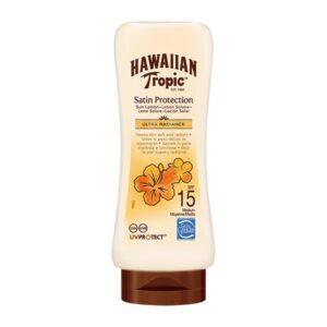 Loção Solar Satin Protection Ultra Radiance Hawaiian Tropic Spf 15 - 180 ml
