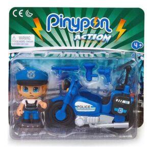 Playset Pinypon Action Police Motorbike Famosa