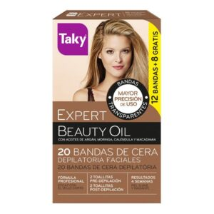 Cera Depilatória Facial Beauty Oil Taky (20 pcs)