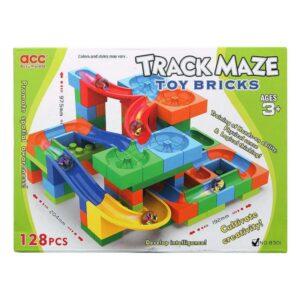 Jogo de Construção com Blocos Track Maze - 128 pcs