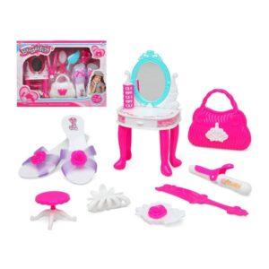 Conjunto de Cabeleieiro Infantil Super Beauty Branco Cor de rosa