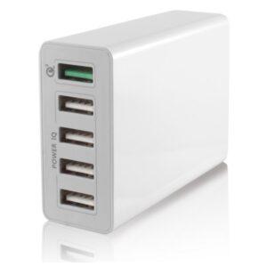 Carregador USB  Parede KSIX 5 USB 10a Branco