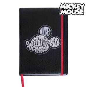 Caderno com marcador de página Mickey Mouse A5 Preto