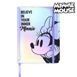 Caderno com marcador de página Minnie Mouse A5 Lilás