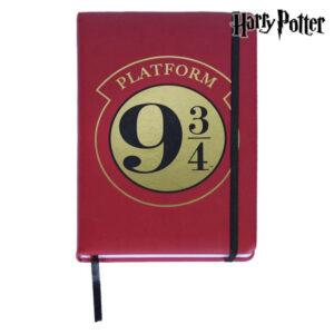 Caderno com marcador de página Harry Potter A5 Castanho-avermelhado
