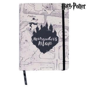 Caderno com marcador de página Harry Potter A5 Castanho