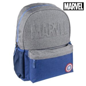 Mochila Escolar Captain America The Avengers Azul marinho Cinzento