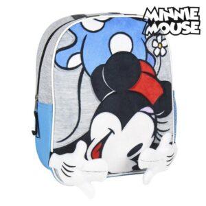 Mochila Infantil 3D Minnie Mouse Azul Cinzento