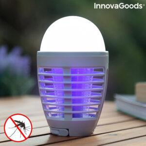 Lâmpada antimosquitos recarregável com LED 2 em 1 - VEJA O VIDEO