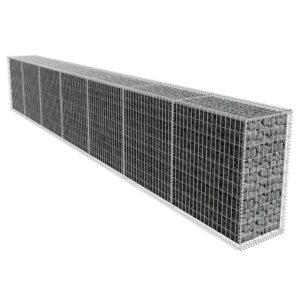 Muro gabião com tampa aço galvanizado 600x50x100 cm - PORTES GRÁTIS