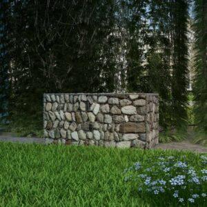 Cesto gabião aço galvanizado 100x50x50 cm - PORTES GRÁTIS
