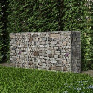 Cesto gabião aço galvanizado 200x50x100 cm - PORTES GRÁTIS